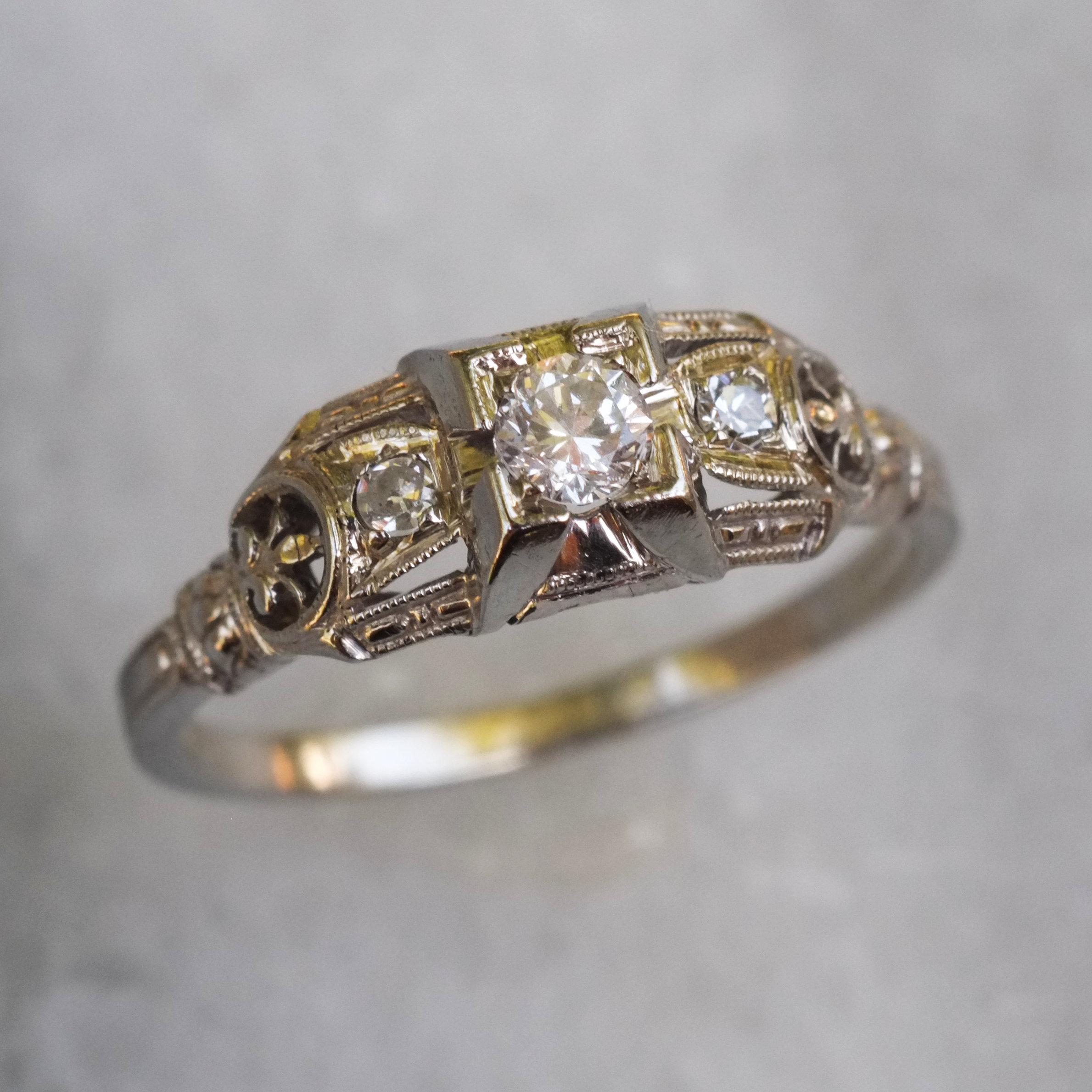 european rings old diamond platinum deco in ring home gold jewellery art cut antique engagement product yellow