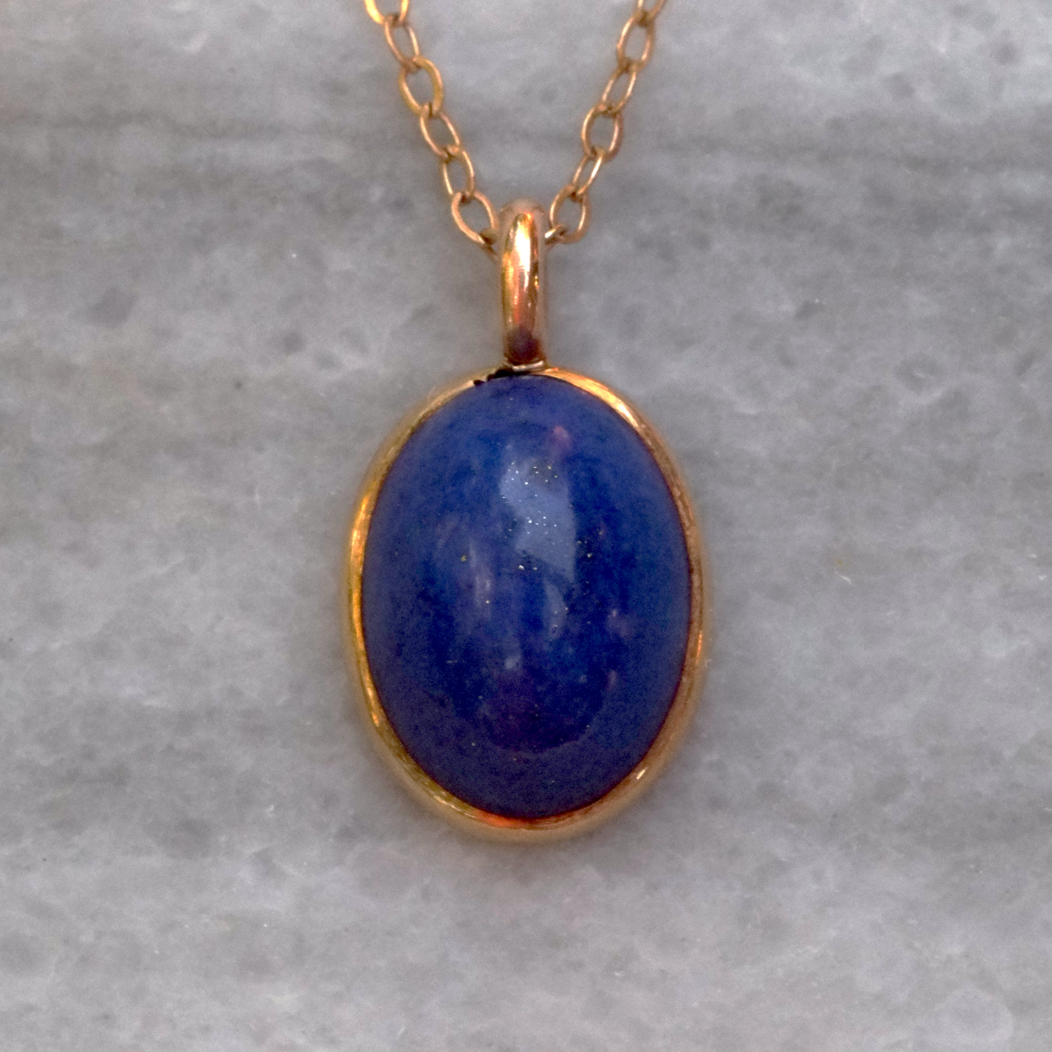 Antique Lapis Oval Pendant