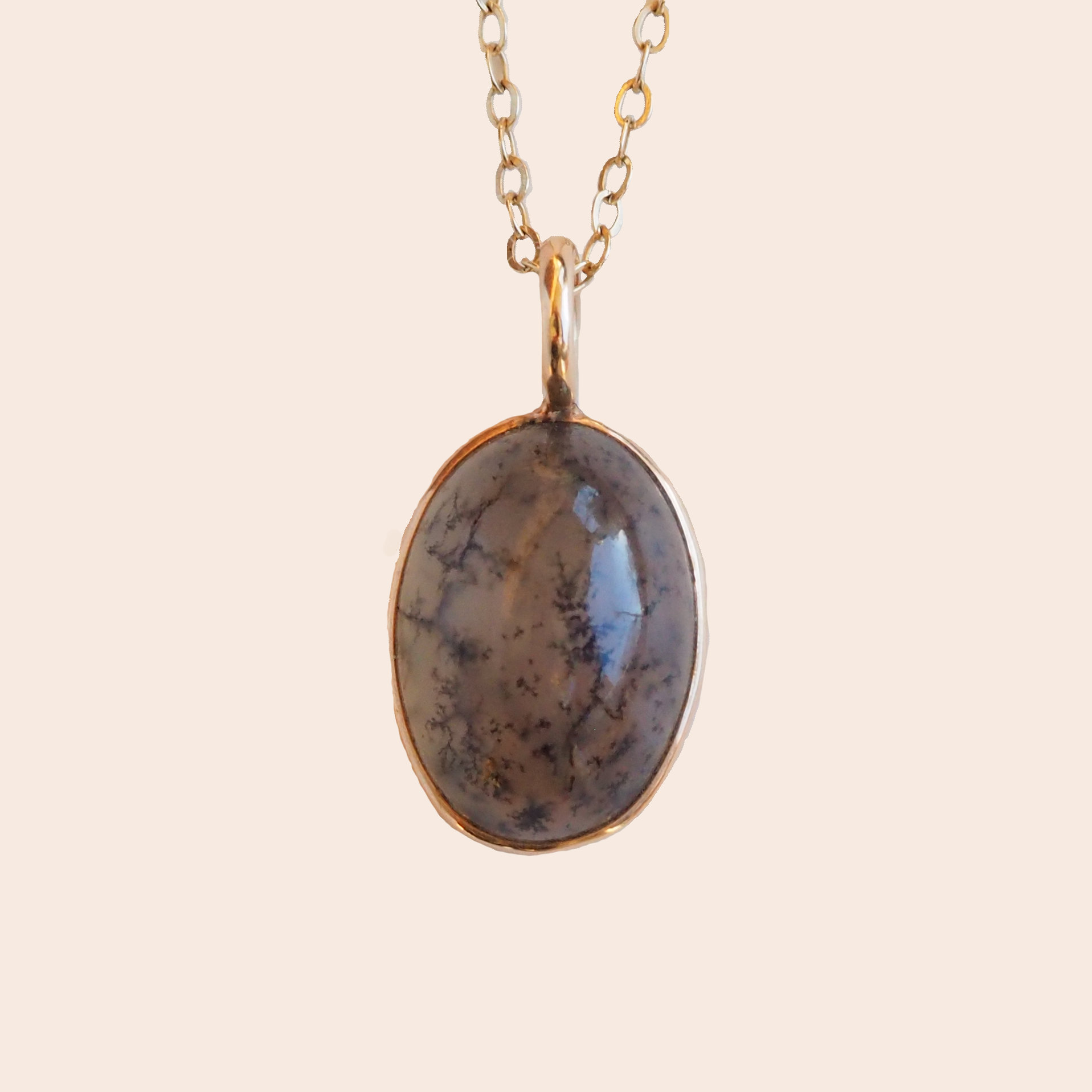 Victorian oval dendritic agate pendant the antiquarian victorian oval dendritic agate pendant aloadofball Choice Image