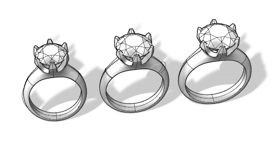 Choosing a diamond size