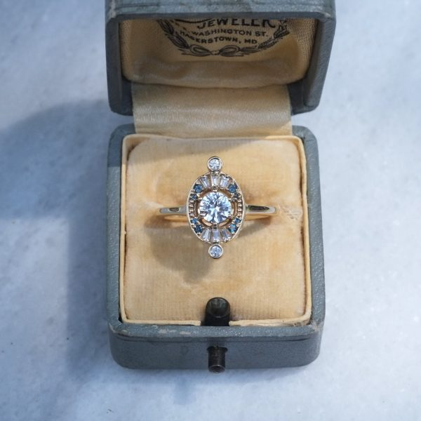 Victorian Inspired Halo Engagement Ring