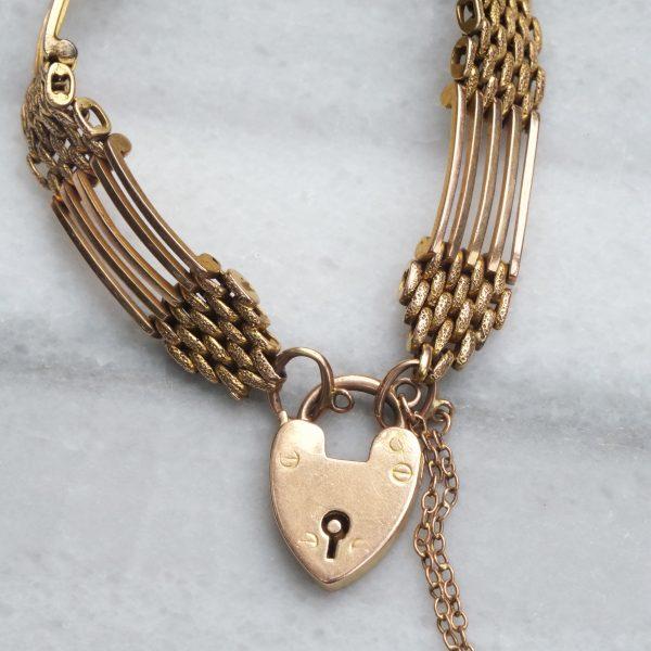 Victorian Gate Bracelet with Heart Padlock
