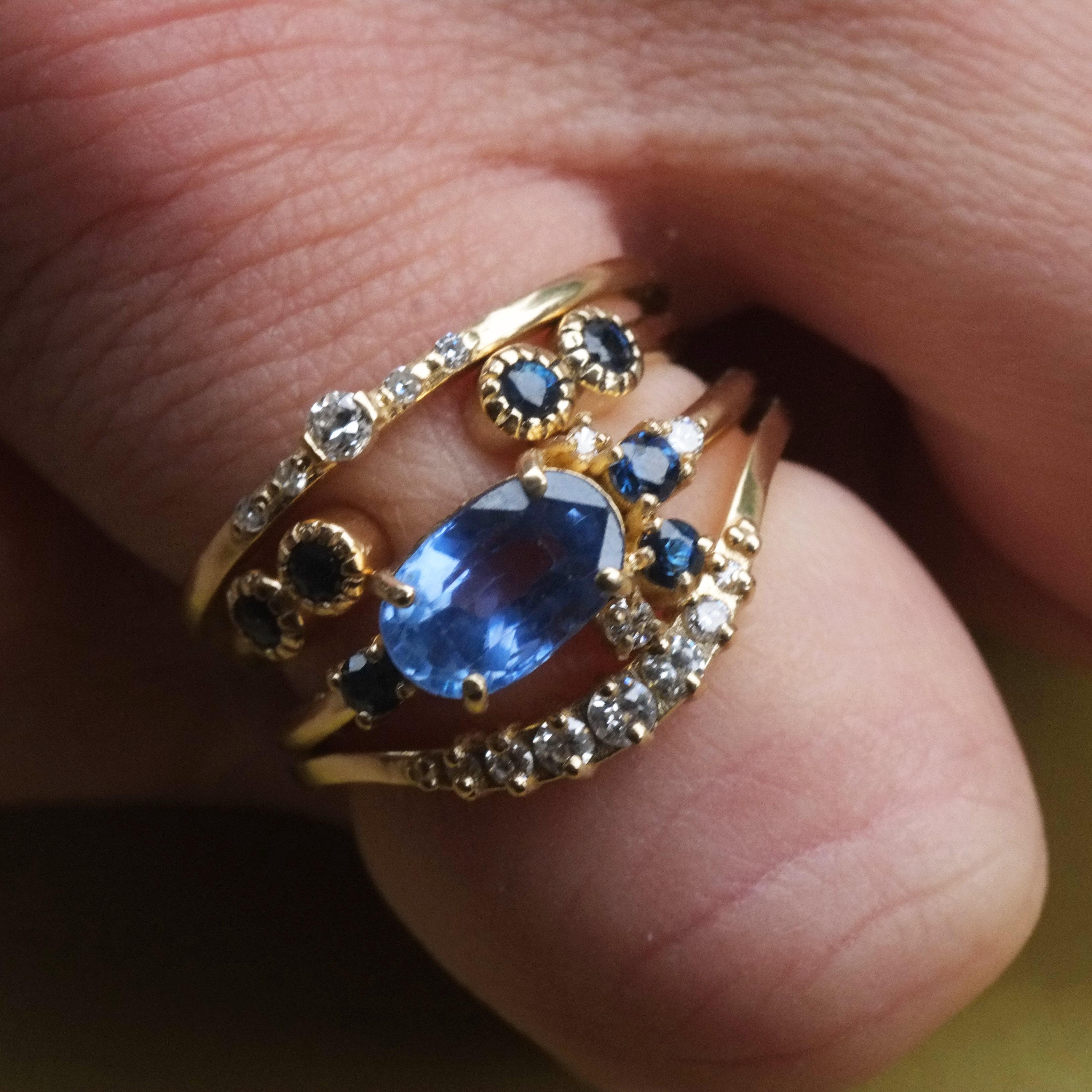 adorable diamond stacking rings