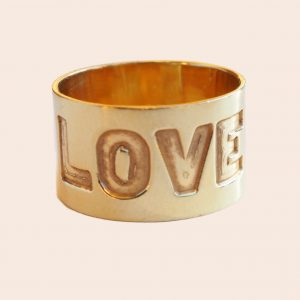 Wide Yellow Gold Wedding Band
