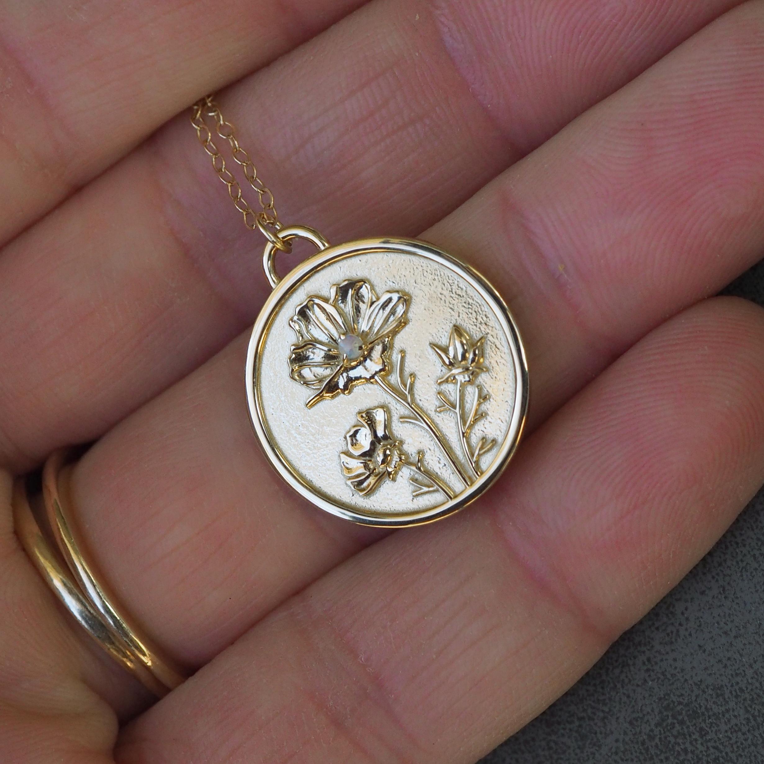Birth flower stacking necklace